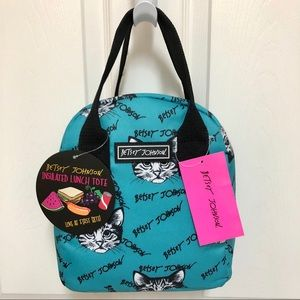 🐱 NWT Betsey Johnson Insulated Lunch Tote CATS